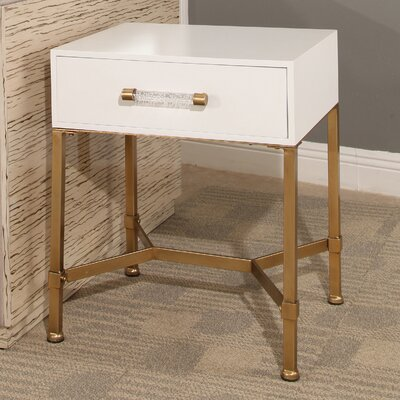 Camilla End Table Top Finish: White