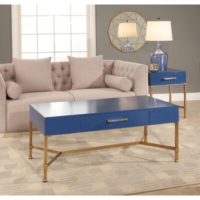 Camilla Coffee Table Top Finish: Blue