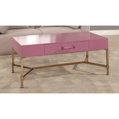 Camilla Coffee Table Top Color: Pink
