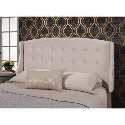 Mali Tufted Upholstered Wingback Headboard Upholstery: Ivory