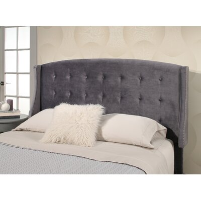 Mali Tufted Upholstered Wingback Headboard Upholstery: Gray