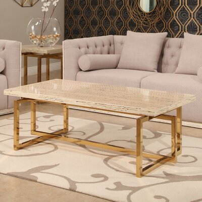 Lefkowitz Stainless Steel 2 Piece Coffee Table Set
