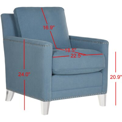 Becontree Club Chair Fabric: Blue