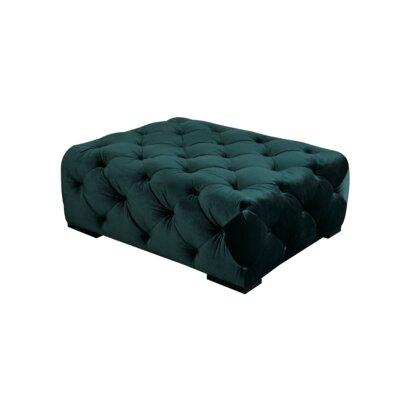 Aubin Rectangular Ottoman Upholstery: Green