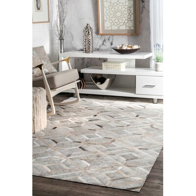 Cecilia Handmade Gray Area Rug Rug Size: Rectangle 4 x 6