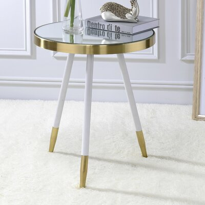 Leon End Table Color: Antique Brass