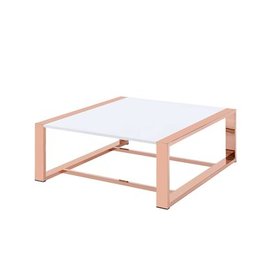 Moa Square Wood Top Coffee Table