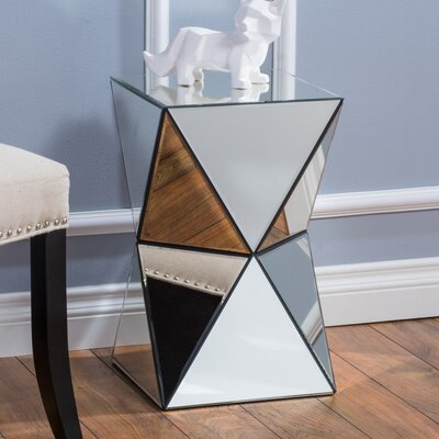 Conrad Mirrored Accent End Table