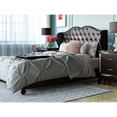 Amelie Upholstered Platform Bed Size: Full, Finish: White