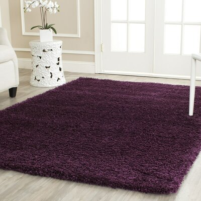 Malina Purple Area Rug Rug Size: Rectangle 6'7