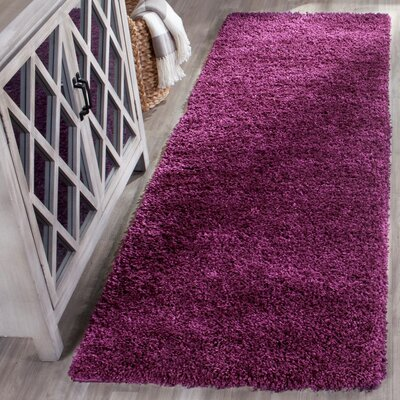 Malina Purple Area Rug Rug Size: Runner 23 x 11