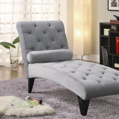 Bailey Chaise Lounge Upholstery: Grey