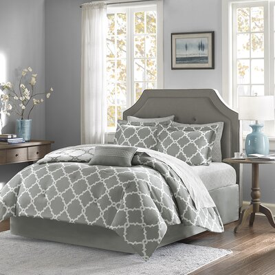 Colt Reversible Comforter Set Size: King, Color: Grey