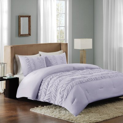 Carlson Comforter Set Size: Twin, Color: Purple
