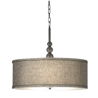 Annuziata 3-Light Drum Pendant Finish / Shade: Oil Rubbed Bronze / Bronze Gold Metallic Shade