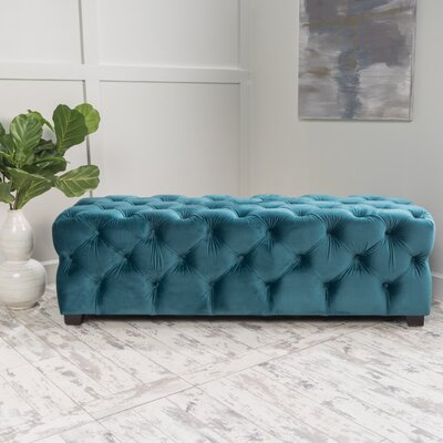 Bortz Ottoman Color: Dark Teal