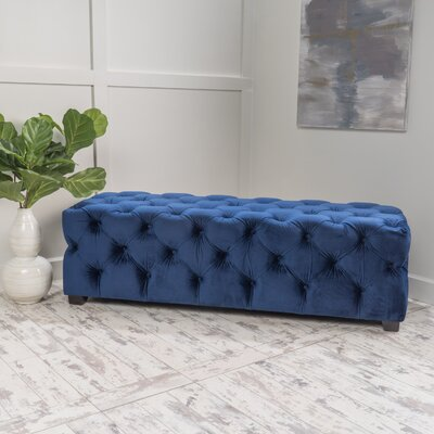 Bortz Ottoman Color: Navy