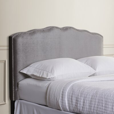 Demers Upholstered Panel Headboard Size: King