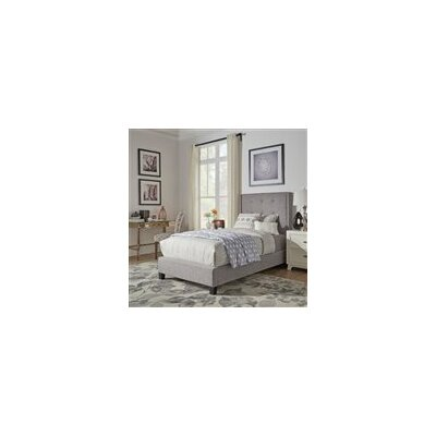 Gittan Upholstered Panel Bed Upholstery: Gray, Size: Twin