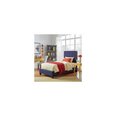Gittan Upholstered Panel Bed Upholstery: Twilight Blue, Size: Twin