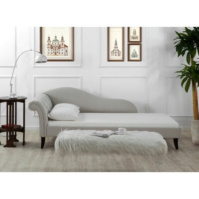 Laylah Chaise Sofa Color: Bone White