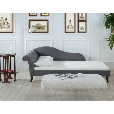 Reede Tiffany Chaise Sofa Color: Seeple Gray