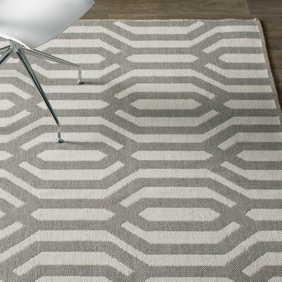 Camillei Cream/Gray Indoor/Outdoor Area Rug Rug Size: Rectangle 2 x 3