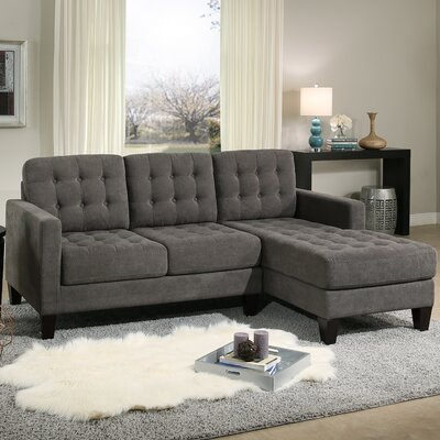 Florence Reversible Sectional Upholstery: Gray
