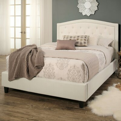 Dollard Tufted Linen Upholstered Panel Bed Size: King
