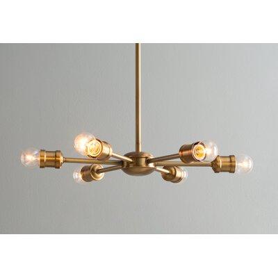 St Helens 6-Light Sputnik Chandelier Finish: Gold
