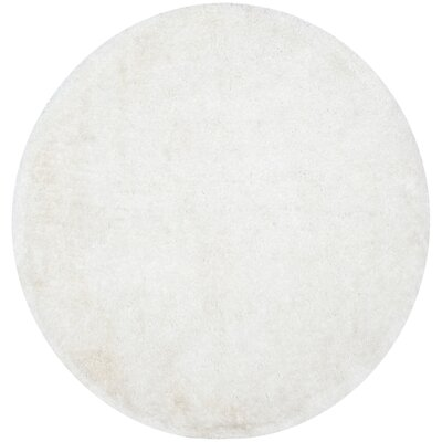 Maya Snow White Shag Rug Rug Size: Rectangle 5 x 8