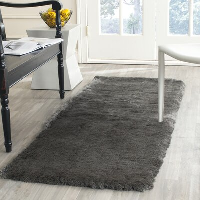 Montpelier Hand-Tufted/Hand-Hooked Titanium Area Rug Rug Size: Runner 23 x 10