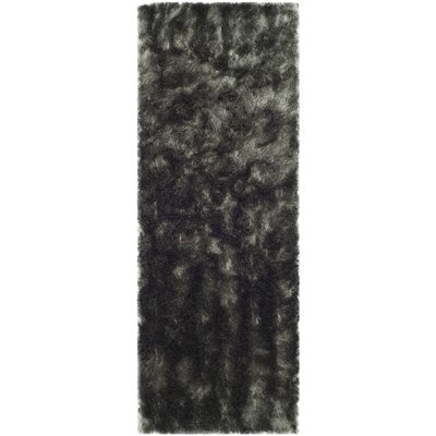 Montpelier Hand-Tufted/Hand-Hooked Titanium Area Rug Rug Size: Runner 23 x 8