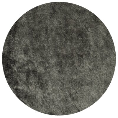 Montpelier Hand-Tufted/Hand-Hooked Titanium Area Rug Rug Size: Round 7