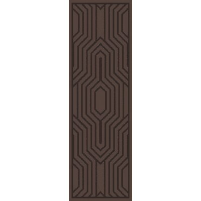 Sula Chocolate Area Rug Rug Size: Runner 26 x 8