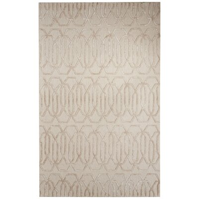 Adelle Hand-Tufted Gray/Ivory Area Rug Rug Size: Rectangle 2 x 3