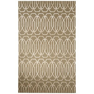 Adelle Hand-Tufted Gray/Ivory Area Rug Rug Size: 2' x 3'