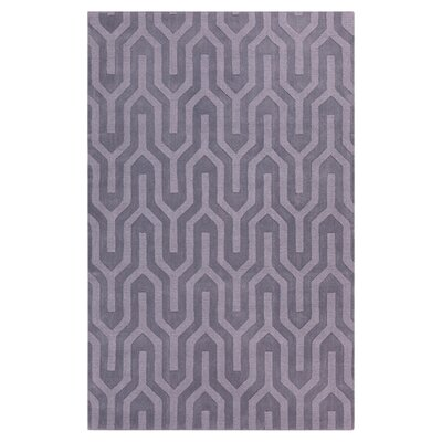 Geron Lavender Hand-Woven Gray Area Rug Rug Size: Rectangle 2 x 3