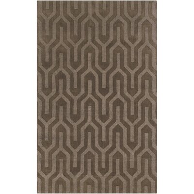 Geron Oyster Hand-Woven Gray Area Rug Rug Size: Rectangle 5 x 8