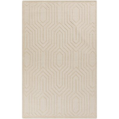 Sula Hand-Loomed Ivory Area Rug Rug Size: Rectangle 5 x 8