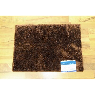 Nicollet Bath Rug Color: Chocolate, Size: 17 H x  24 W