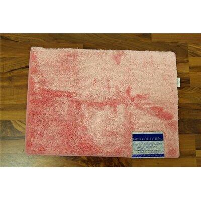 Nicollet Bath Rug Color: Pink, Size: 17 H x  24 W