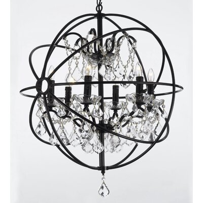 Calderdale Orb 6-Light LED Crystal Chandelier