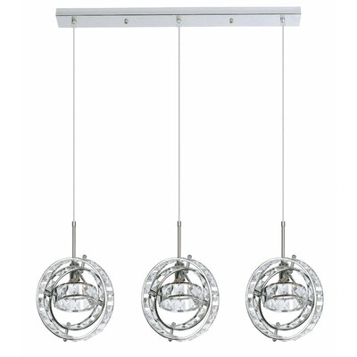 Rosenow 3-Light Kitchen Island Pendant