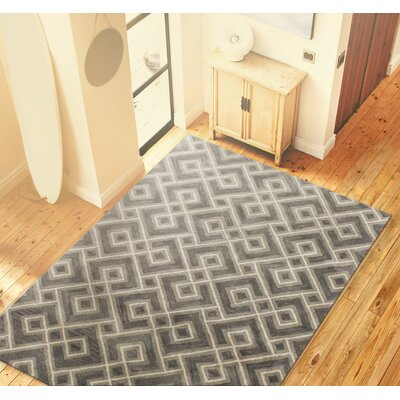 Rosenthal Grey Area Rug Rug Size: 86 x 116
