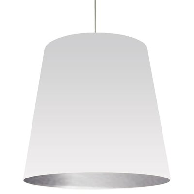 Jenkins 1-Light Mini Drum Pendant Shade Color: White on Silver, Size: 32 H x 32 W x 26 D