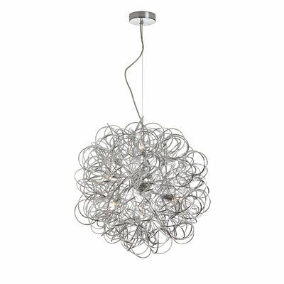 Gardner 6-Light Geometric Pendant Finish: Satin Chrome