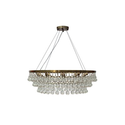 Fabrice 10-Light Crystal Chandelier Finish: Antique Silver