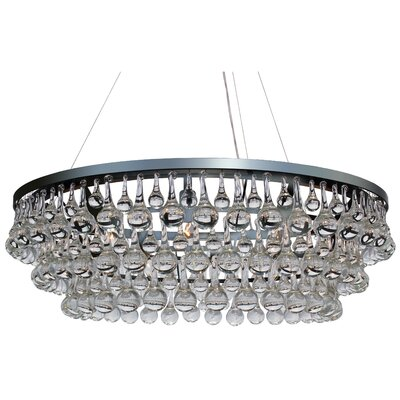 Fabrice 10-Light Crystal Chandelier Finish: Chrome