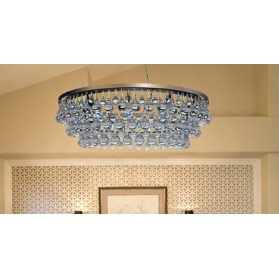 Fabrice 10-Light Crystal Chandelier Finish: Antique Brass